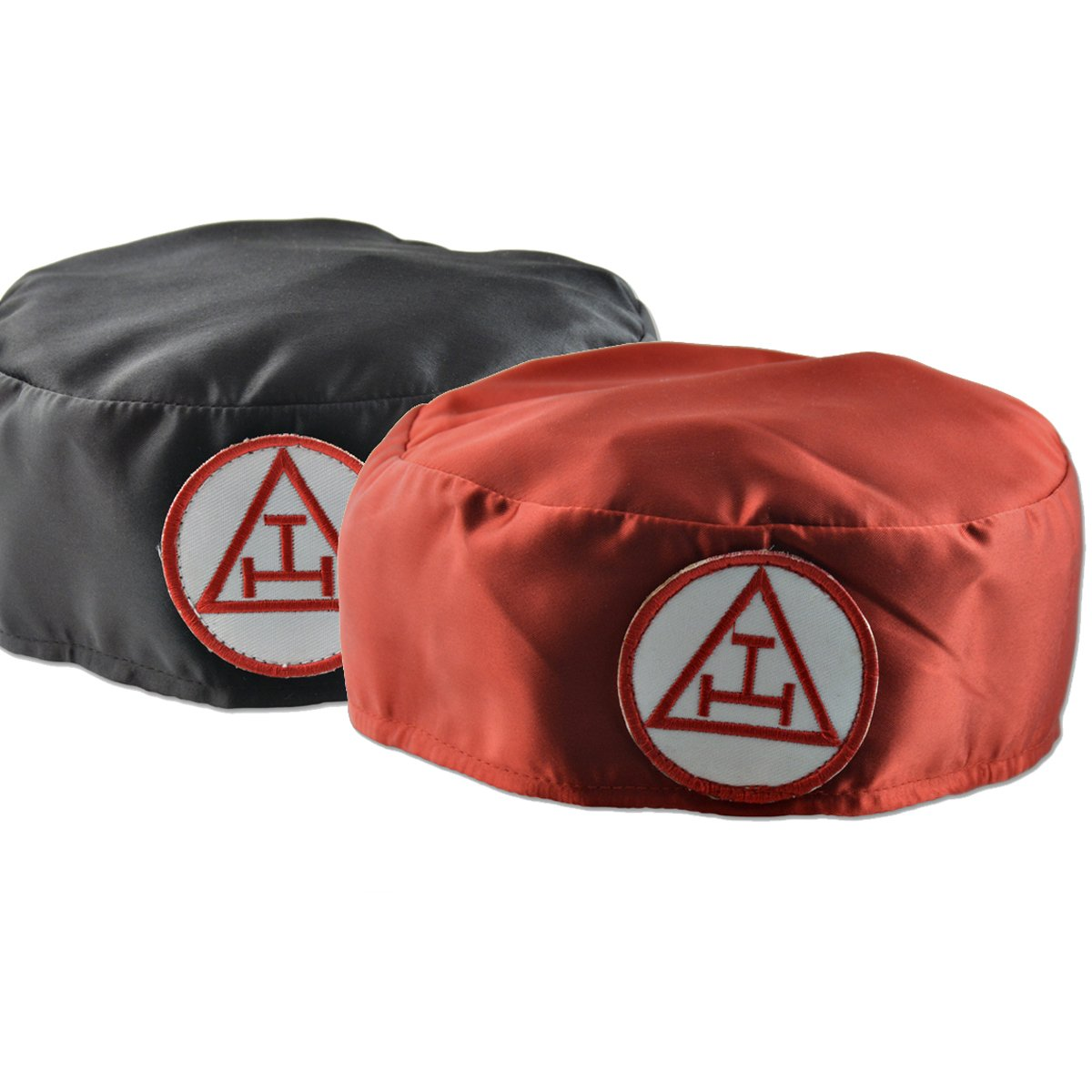 Royal Arch Ceremonial Soft Hat Cap Red Triple Tau - Bricks Masons