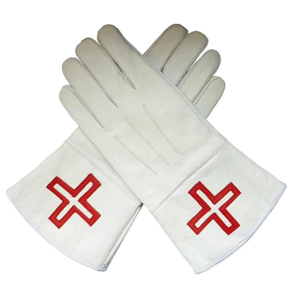 St. Thomas of Acon Gauntlets Red Cross Soft Leather Gloves