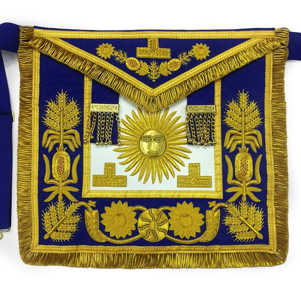 Deluxe Masonic Past Grand Master Apron Grand Lodge - Bricks Masons