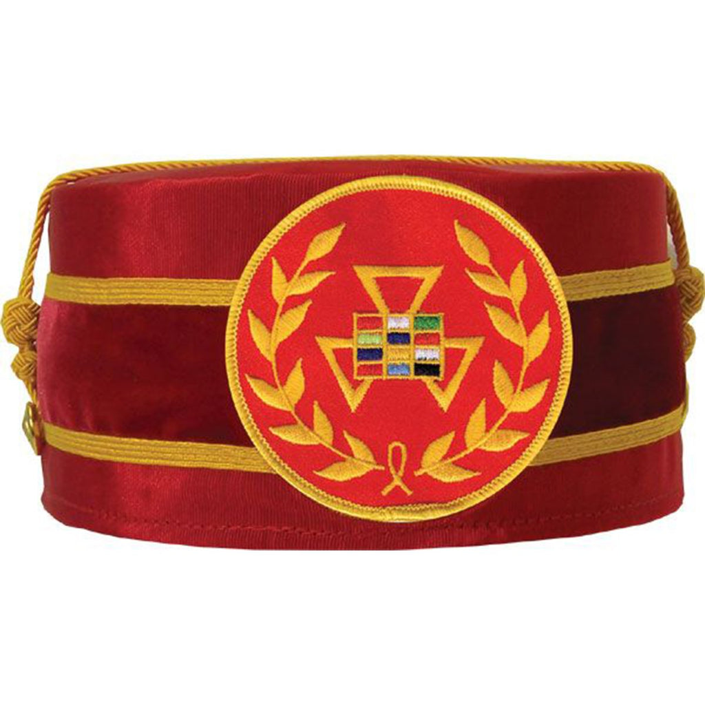 Royal Arch Grand Past High Priest PHP Wreath Cap Red - Bricks Masons