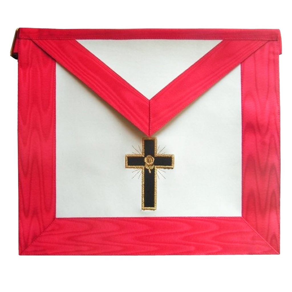 Masonic Scottish Rite apron - AASR - 18th degree - Knight Rose-Croix - Latin cross - Bricks Masons