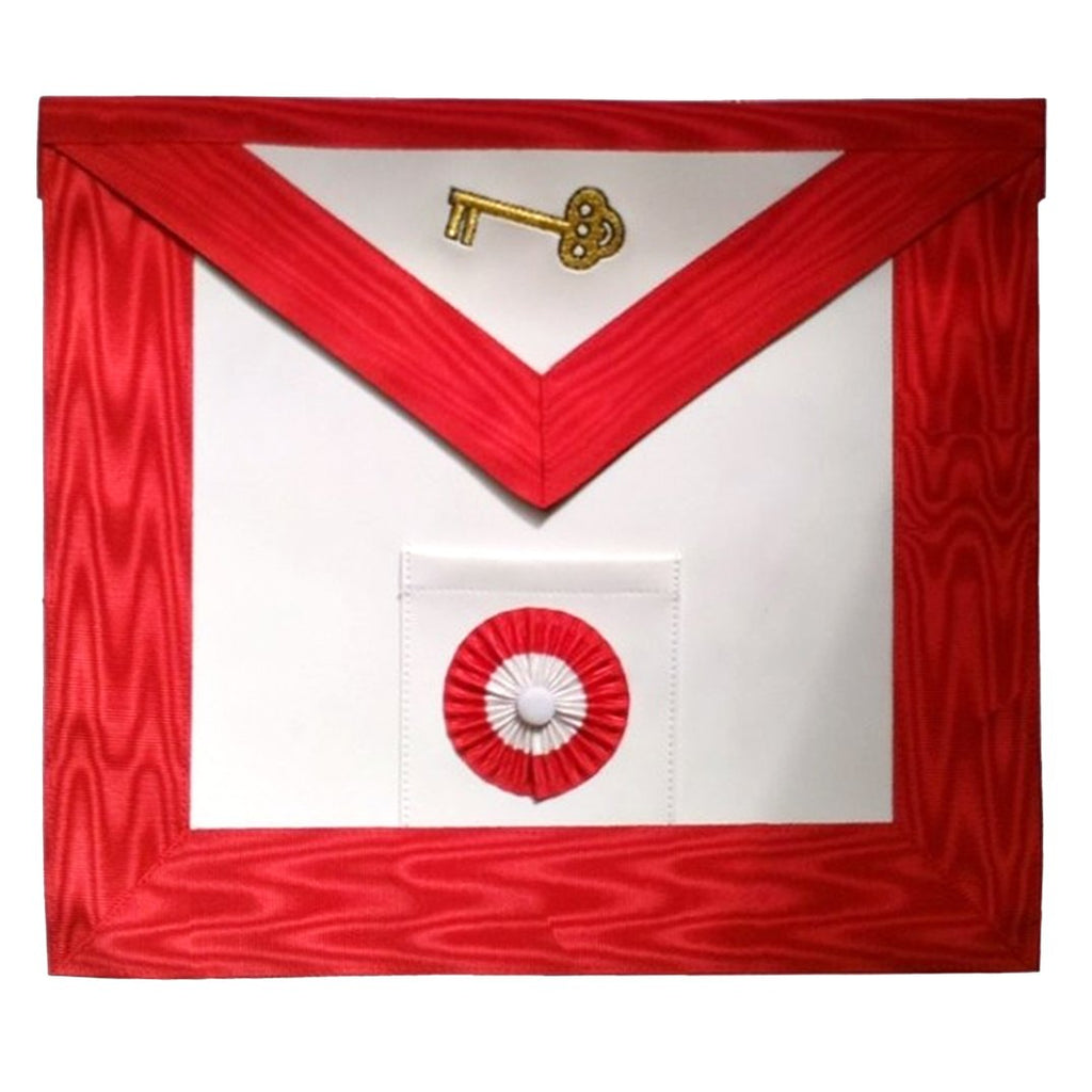 Masonic Scottish Rite leather Masonic apron - AASR - 7th degree - Bricks Masons
