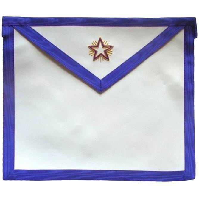 Masonic Memphis Misraim Rite Apprentice Fellowcraft Flaming Star Apron - Bricks Masons