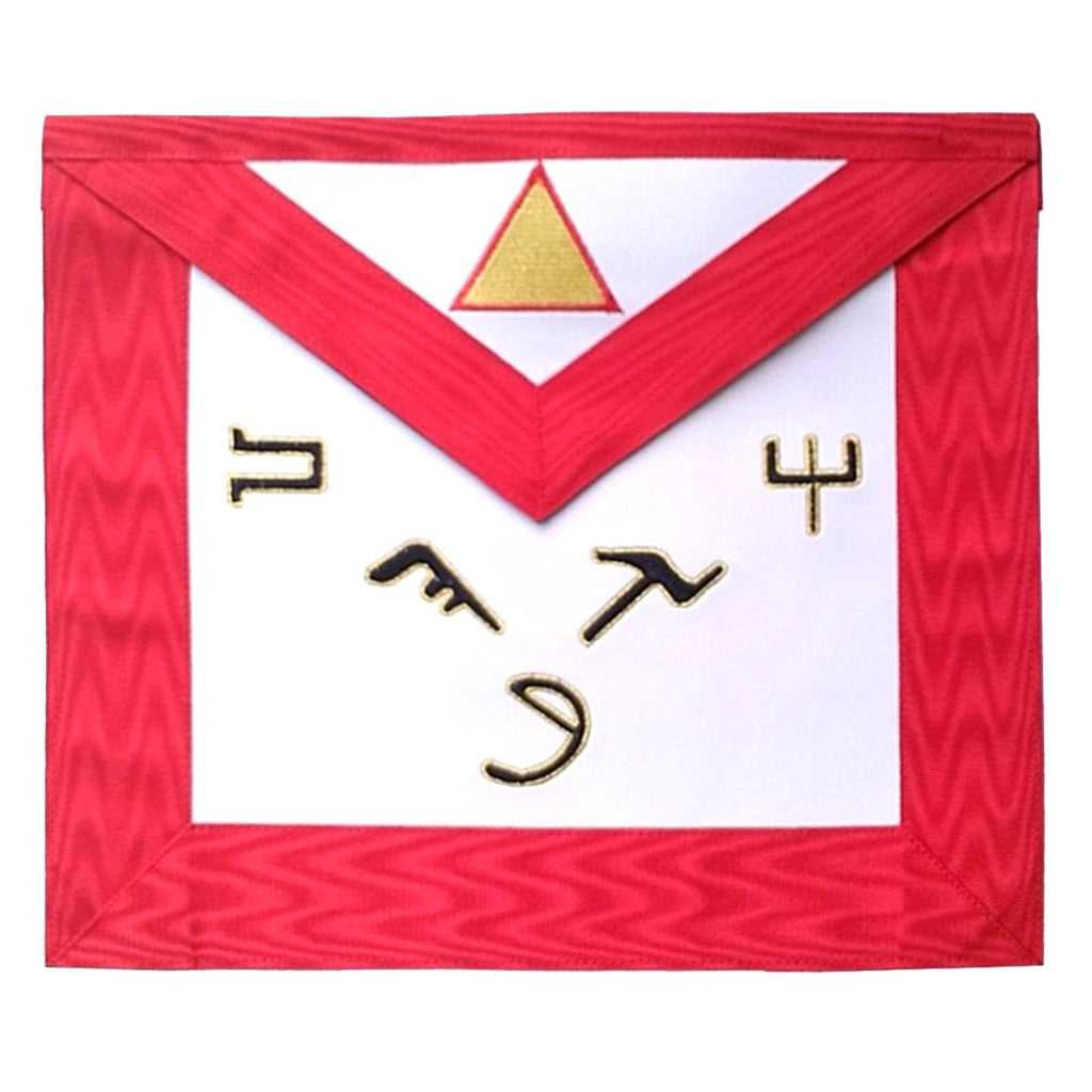 Masonic Scottish Rite leather Masonic apron - AASR - 6th degree - Bricks Masons