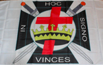 IN HOC SIGNO VINCES Knights Templar Masonic Flag