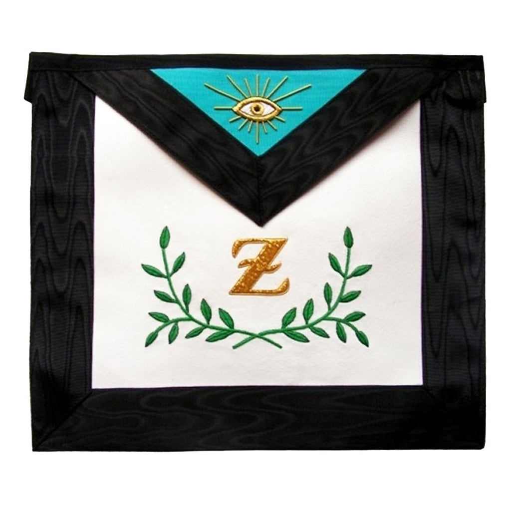 Masonic Scottish Rite Masonic apron - AASR - 4th degree - Sprig of acacia - Bricks Masons