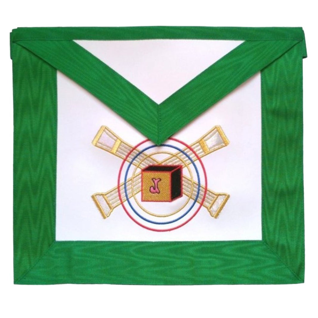 Masonic Scottish Rite Leather Masonic Apron - AASR - 5th Degree - Bricks Masons