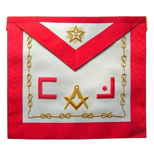 Masonic Scottish Rite Apron - AASR - Master Mason - Masonic Letters Square Compass - Bricks Masons