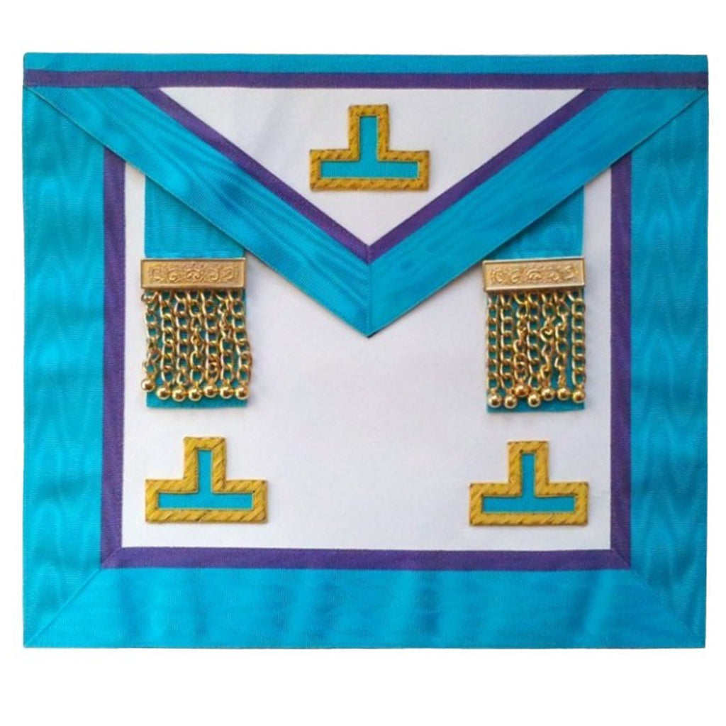 Masonic Memphis Misraim Rite Worshipful Master Apron with Tassles Hand Embroidered - Bricks Masons