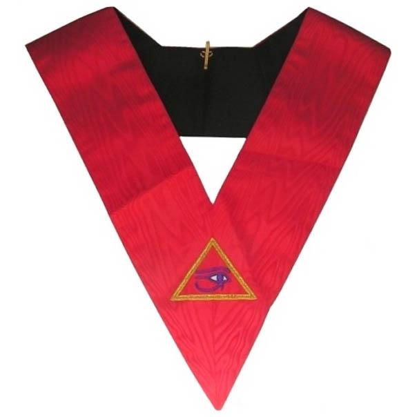 Masonic Memphis Misraim Hand Embroidered Collar - 90 Degree - Bricks Masons