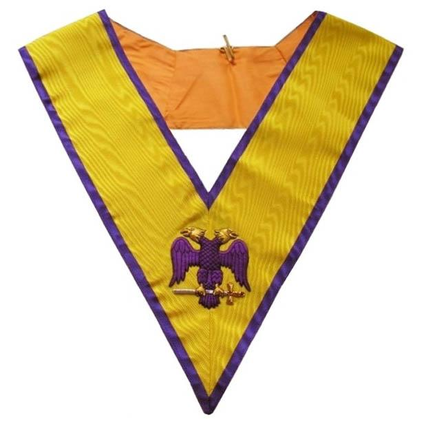 Masonic Memphis Misraim Hand Embroidered Collar - 95 Degree - Bricks Masons