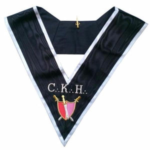 Masonic Officer's collar - ASSR - 30th degree - CKH - Grand Servant d'Armes - Bricks Masons