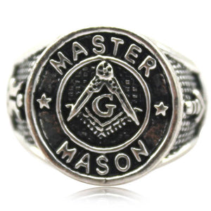 Master Mason Signet  Masonic Ring - Bricks Masons