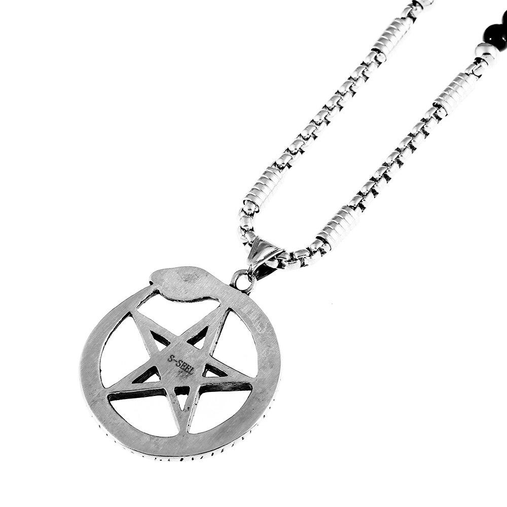 Ouroboros Masonic Symbol Necklace