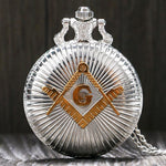 Masonic Pocket Watch Full Hunter Vintage Design - Bricks Masons