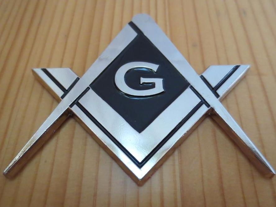 Compass And Square G  Car Emblem - Bricks Masons