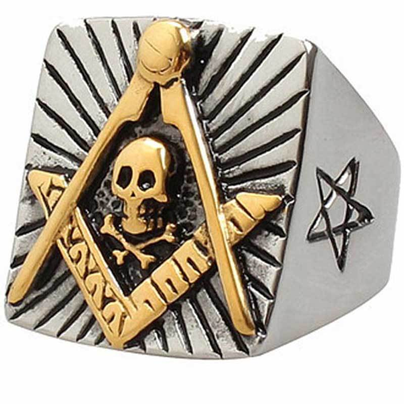 Bold Star Masonic Ring - Bricks Masons