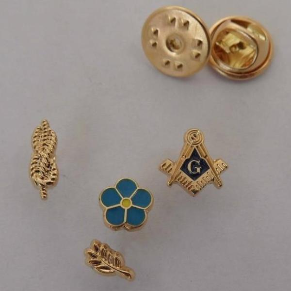 One Set of 4 PCS Masonic Lapel Pins