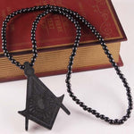 Wooden Masonic Pendant Necklace [Multiple Colors] - Bricks Masons