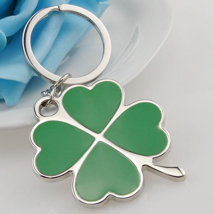 Stainless Green Leaf Keychain - Bricks Masons