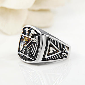 32 Degree Double-Headed Eagle Masonic Ring - Bricks Masons