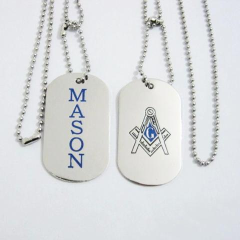 MASON Tag Freemason Necklace - Bricks Masons