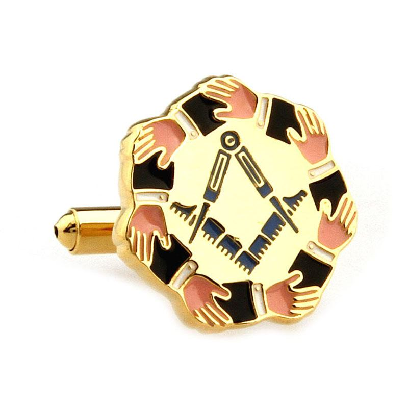 Circle Arms Masonic Cufflinks - Bricks Masons