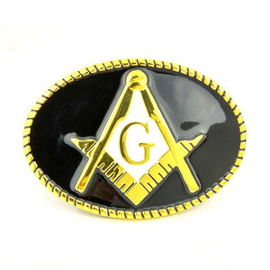 Golden Masonic Belt - Bricks Masons