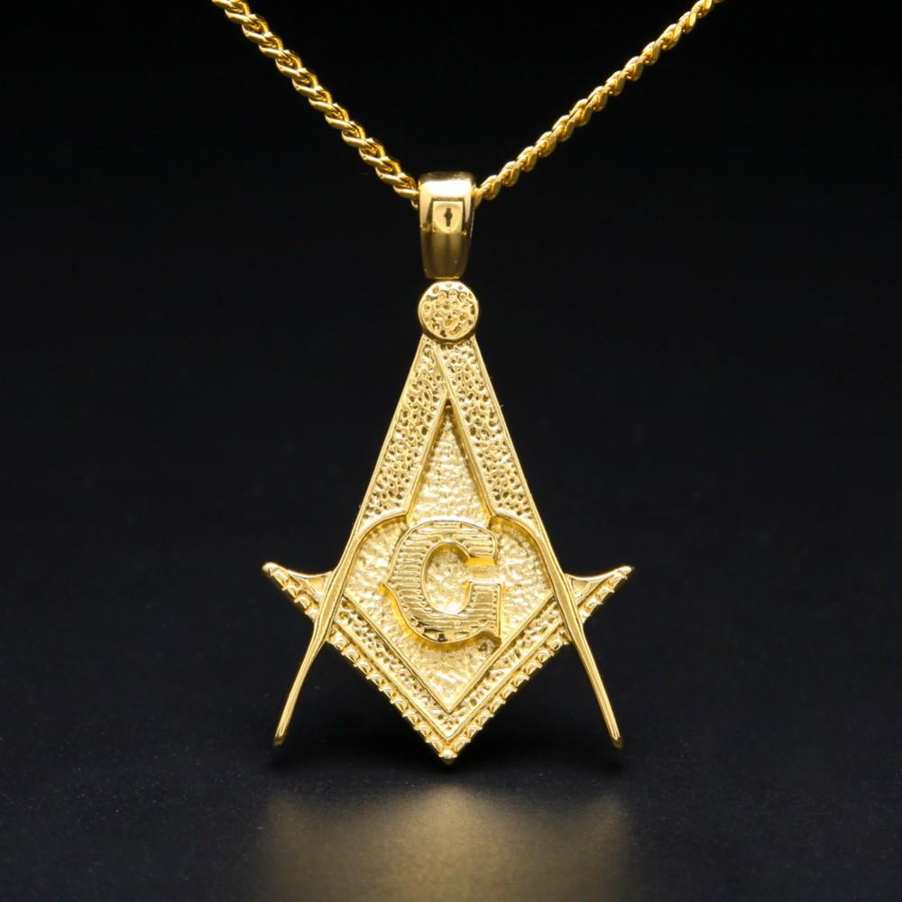 Royal Compass & Square Masonic Necklace - Bricks Masons