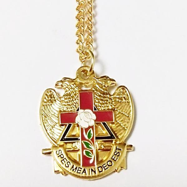 32 Degree Scottish Rite Rose Masonic Necklace - Bricks Masons