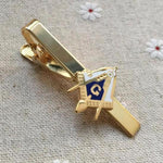 Square and Compass Masonic Tie Clip - Bricks Masons