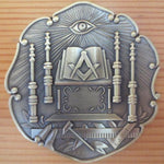 Ancient Temple 3D Car Emblem - Bricks Masons