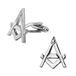 Silver Masonic Shape Cufflinks - Bricks Masons