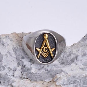 Oval Freemason Ring - Bricks Masons
