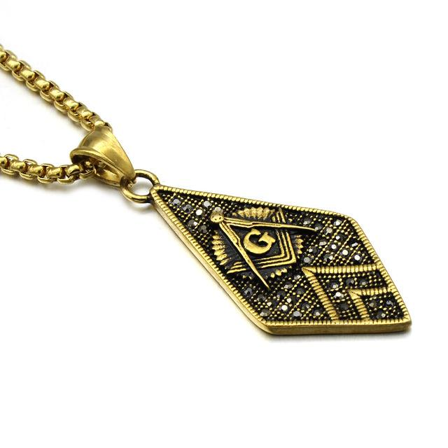 Masonic Rhombus Necklace [Multiple Colors] - Bricks Masons