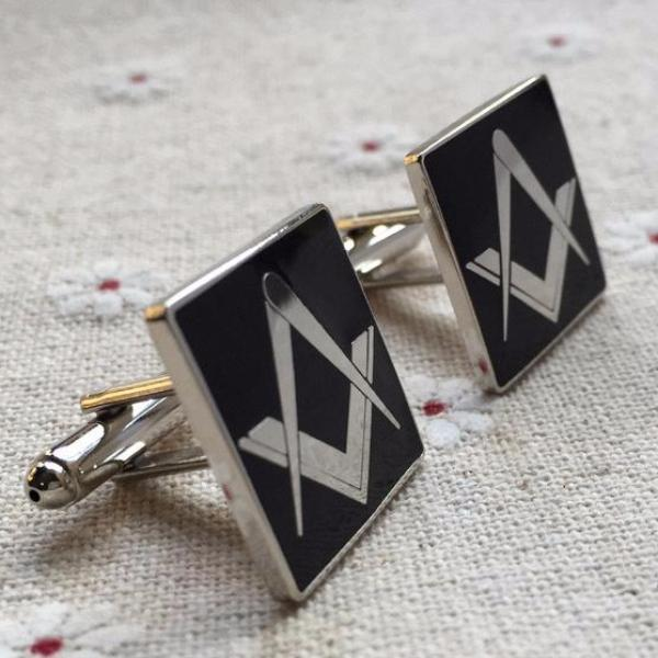 Masonic Black Lodge Cufflinks - Bricks Masons