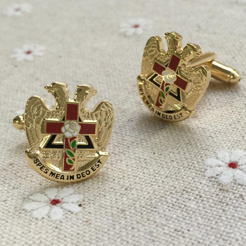 Scottish Rite Rose Freemason Cufflinks - Bricks Masons