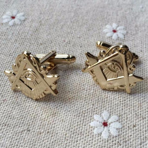 Eye of Providence Masonic Symbol Cufflinks - Bricks Masons