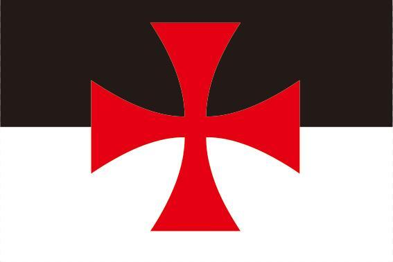 Cross Patée Knights Templar Flag - Bricks Masons