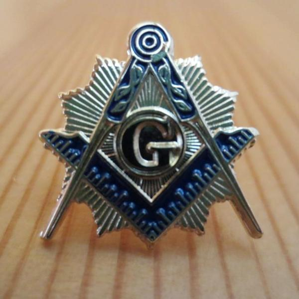 Blue Compass And Square G Masonic Lapel Pin - Bricks Masons