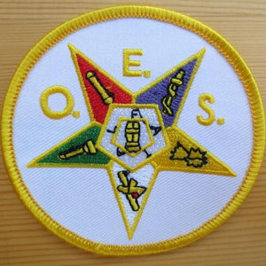 Masonic Embroidery Patch Order of Eastern Star - Bricks Masons