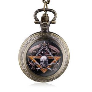 All-Seeing Eye Skull & Bones Masonic Watch [Multiple Colors] - Bricks Masons