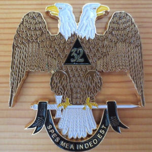 32 Degree SPES MEA INDEO EST Car Emblem - Bricks Masons