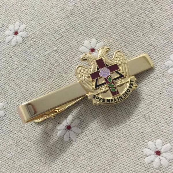 Scottish Rite Rose Freemason Tie Clip - Bricks Masons