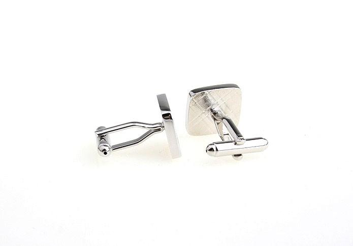 Square Silver Masonic Cuff Links - Bricks Masons
