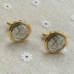 Silver Gold Masonic Lodge Cufflinks - Bricks Masons