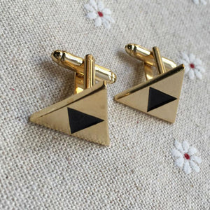 Black Golden Triangle Masonic Cufflinks - Bricks Masons