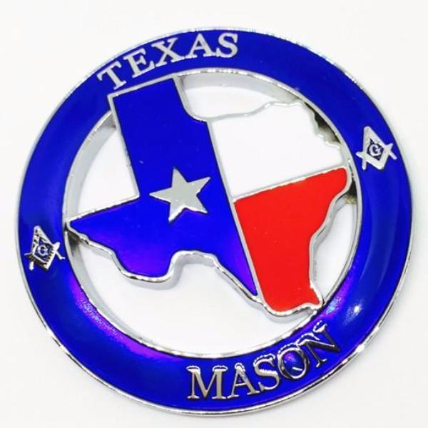 TEXAS MASON Car Emblem - Bricks Masons