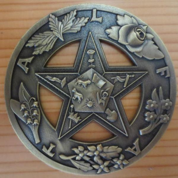 Order of the Eastern Star Masonic Auto Car Badge Emblem - Bricks Masons