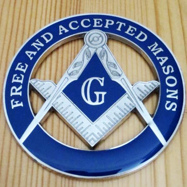 FREE AND ACCEPTED MASONS Car Emblem - Bricks Masons